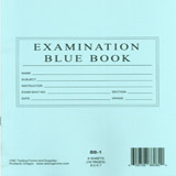 "CNC BB1 - 400 Pack 8.5""x7"" Examination Blue Book Book 8 Sheet 16 Pgs Lined"
